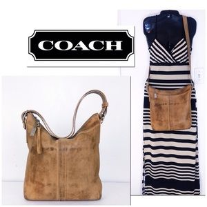 Coach Intentionally Distressed Leather Slim Duffle